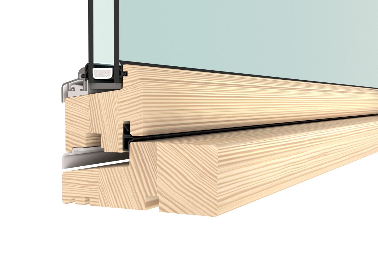 Flush casement window - double glazed timber