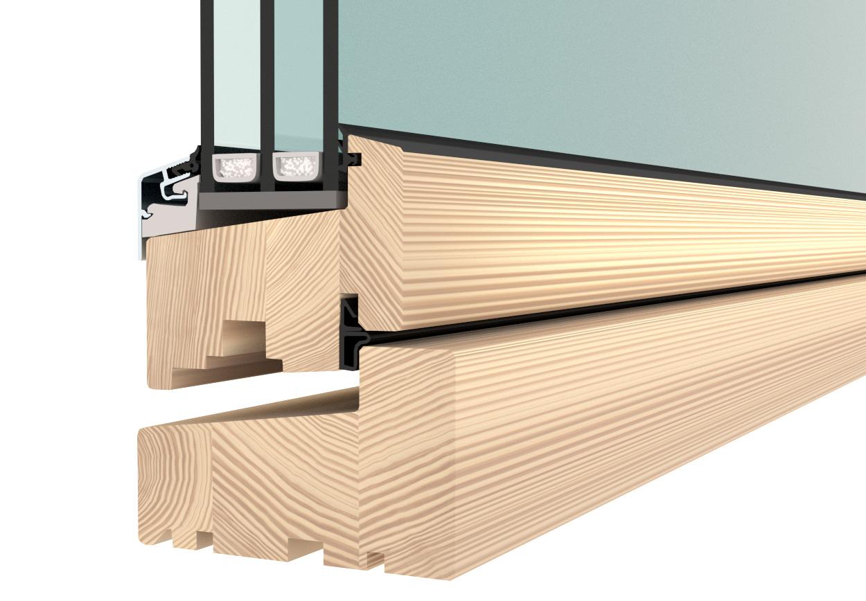 Flush casement window - triple glazed timber