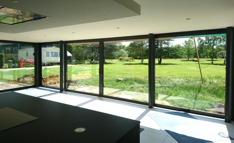 Double glazed lift and slide doors, Essex