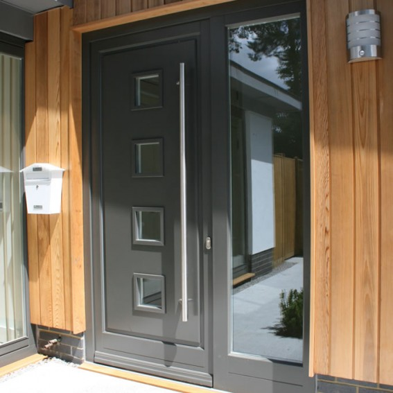 Modern timber entrance doors livingwood for Modern entrance door design